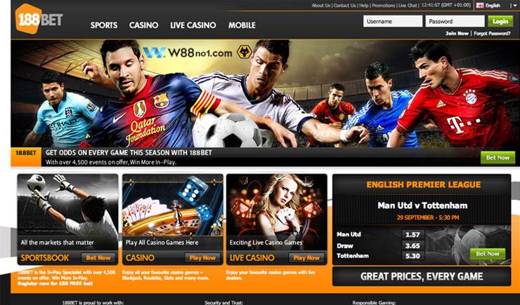 Web cá cược thể thao trực tuyến 188bet